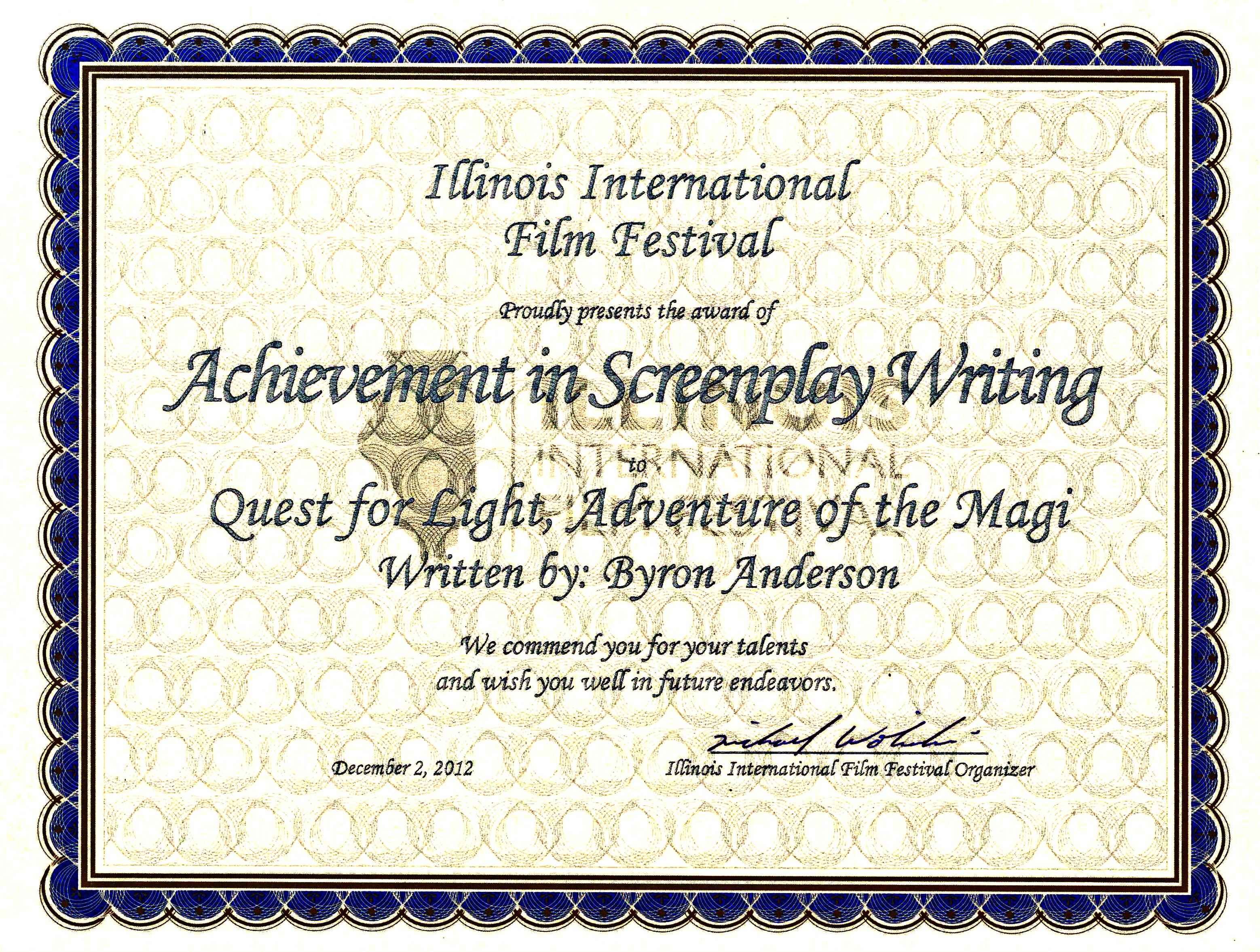 Screenplay Award